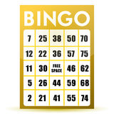 Bingo card. Illustration design isolated over a white background Royalty Free Stock Photography
