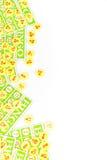 Bingo card arrange with number chip Stock Images