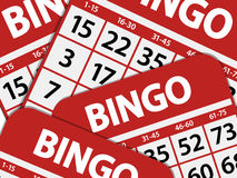 Bingo card background Stock Photos