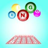 Bingo card and ball Stock Photos