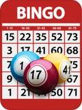 Bingo card and balls background Royalty Free Stock Photos