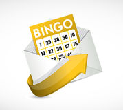 Bingo card inside an envelope illustration Royalty Free Stock Images