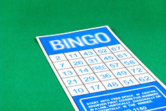 Bingo card risk gamble game Stock Photo