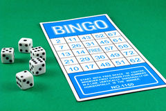 Bingo card risk gamble game Stock Images