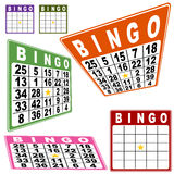 BINGO Card Set Stock Images