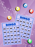 Bingo cards and balls Stock Photos