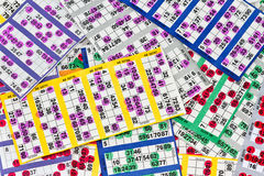 Bingo Cards Stock Photography