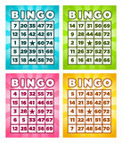 Bingo Cards. Colorful set of bingo cards Royalty Free Stock Photo