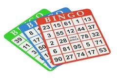 Bingo cards, 3D rendering. On black background Royalty Free Stock Image