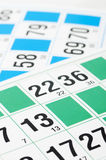 Bingo cards and number thirteen Royalty Free Stock Photo