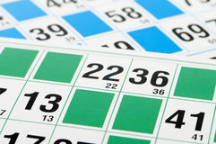 Bingo cards and number thirteen Royalty Free Stock Image