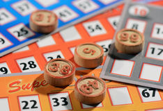 Bingo cards and numbers Stock Photo