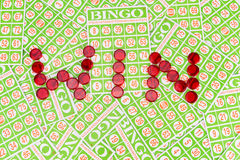 Bingo chip arrange in Royalty Free Stock Image