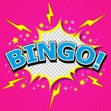 Bingo! Comic Speech Bubble, Cartoon Stock Image