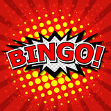 Bingo! Comic Speech Bubble, Cartoon Stock Images