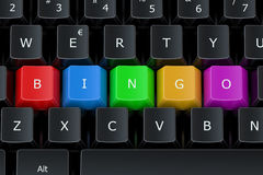 Bingo concept on the computer keyboard Royalty Free Stock Photos