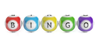 Bingo concept, lottery balls. 3D rendering. Isolated on white background Stock Photography