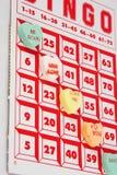 Bingo de los corazones Fotografía de archivo libre de regalías