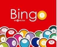 Bingo design,  illustration. Stock Image