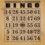 Bingo do fundo Imagens de Stock