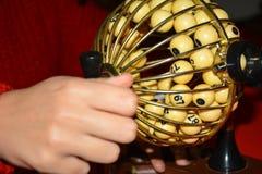 Bingo drum shuffle stock photos