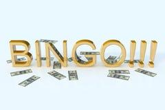 Bingo e dollari Fotografia Stock Libera da Diritti