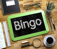 Bingo escrito à mão no quadro pequeno 3d Imagem de Stock Royalty Free