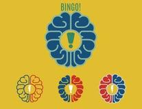 Bingo!. Flat illustration that means new genius idea Stock Photo