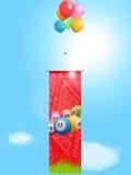 Bingo flying banner and balloons Stock Images