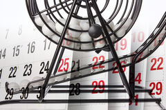 Bingo Game Cage and Calendar Stock Photos