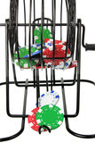 Bingo Game Cage with Poker Chips Royalty Free Stock Image