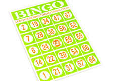 Bingo game card Royalty Free Stock Images