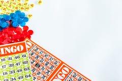 Bingo game. Card on White Background Royalty Free Stock Image