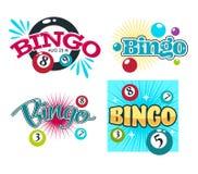 Bingo game gambling equipment balls with numbers isolated icons. Gambling equipment balls with numbers bingo game isolated icons vector playing and winning money vector illustration