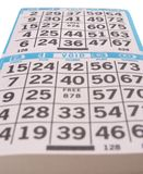 A bingo game scorecard. Background Stock Photos
