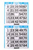 A bingo game scorecard. Background Royalty Free Stock Photo