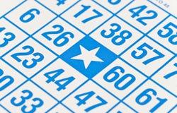 Bingo geben Punkt frei lizenzfreies stockbild