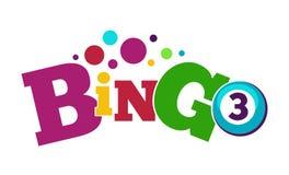 Bingo gemowy kolorowy plakat z piłką z liczbą ilustracja wektor