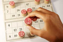 bingo gra Obraz Royalty Free