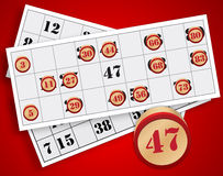 Bingo gra royalty ilustracja