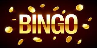 Bingo gry sztandar royalty ilustracja