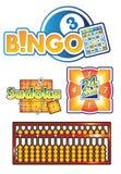 Bingo, het spelvector van het telraamembleem Royalty-vrije Stock Foto