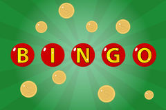 Bingo. Icon. Flat design, illustration royalty free illustration