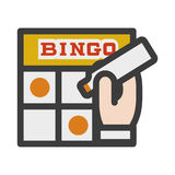 Bingo illustration icon Stock Photos