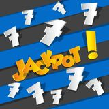 Bingo, Jackpot symbol stock illustration