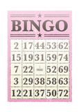 bingo karta Zdjęcie Stock