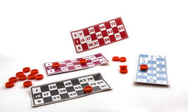 Bingo karty Fotografia Stock