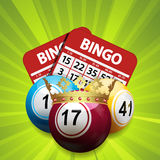 Bingo king and cards Royalty Free Stock Photo