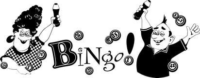 Bingo klamerki sztuka royalty ilustracja