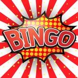 Bingo, komische Sprache-Blase Stockfotos